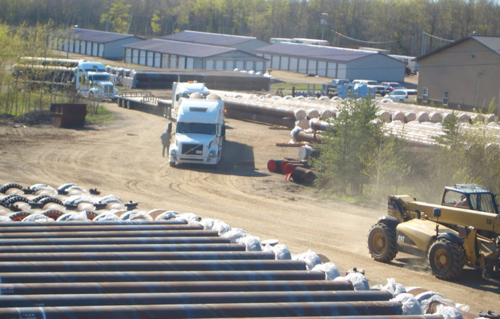 15 km Iracore Elastomer Lined Tailings Pipe Delivered to Northern Alberta, Canada Oil Sands Producers