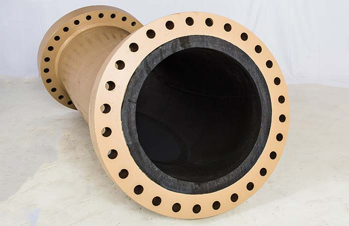 rubber lined pipe