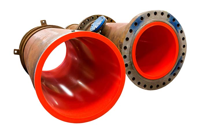 Urethane-Lined Pipe at Iracore