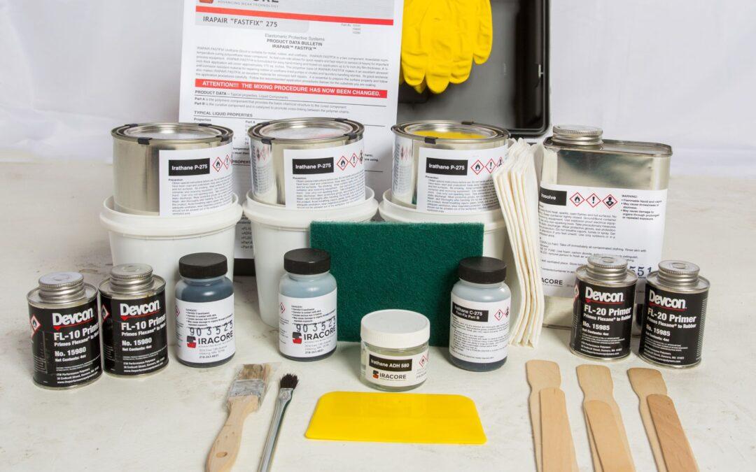 Repairing Urethane Liner with Iracore Repair Kits